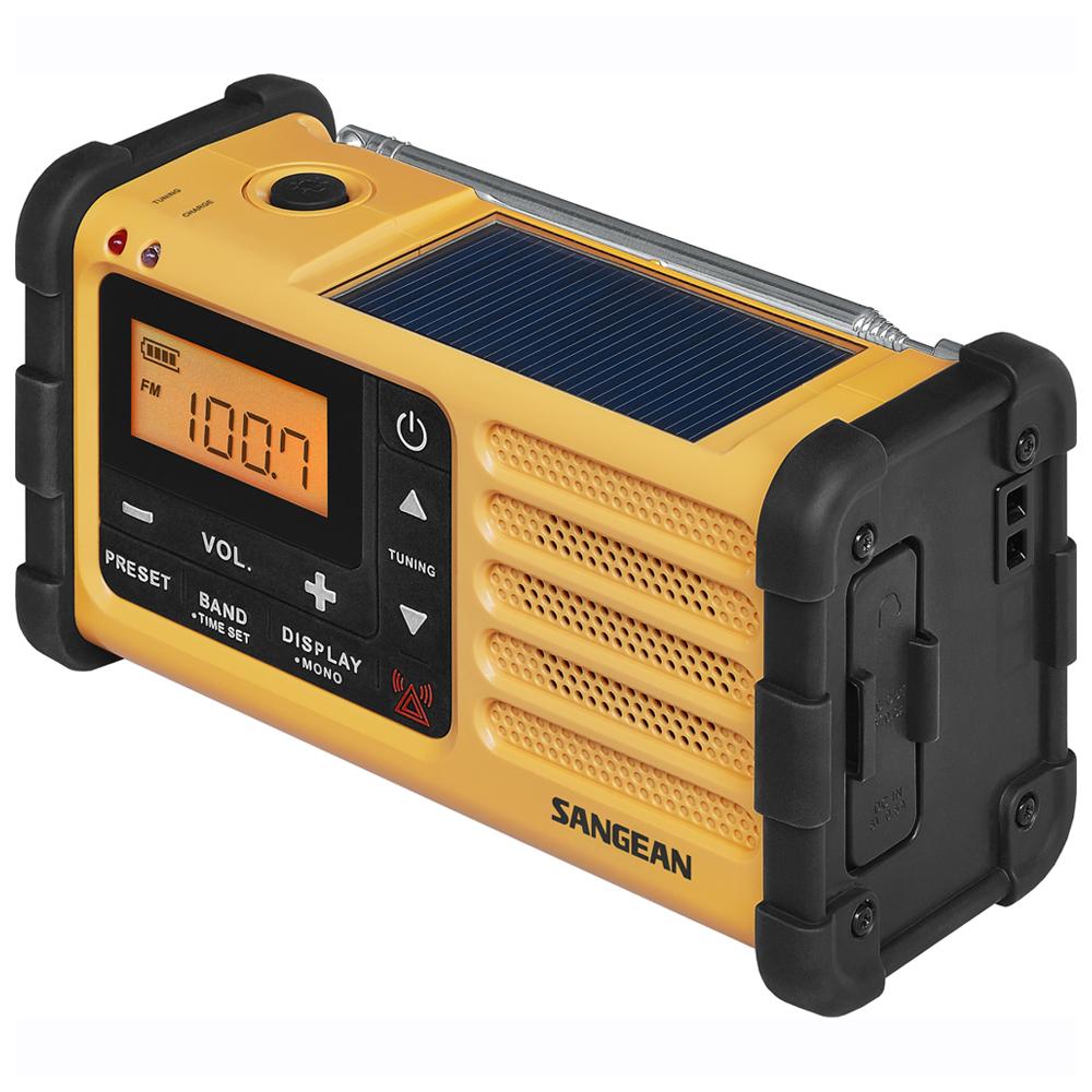 山進收音機SANGEAN- 調頻/調幅 數位式防災收音機(MMR-88)黃黑