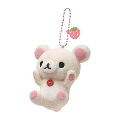 San-X 懶熊小公仔別針珠鍊吊飾。坐坐懶妹