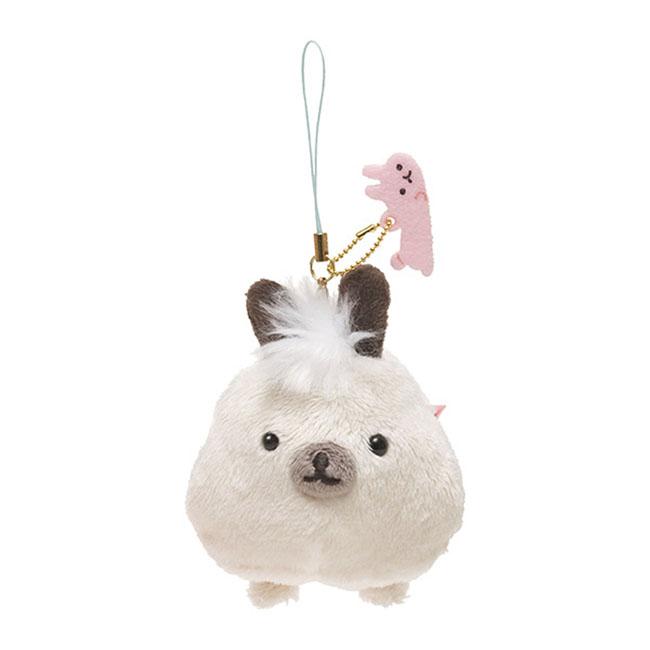 San-X 麻糬兔兔子朋友系列毛絨公仔吊飾。小柴兔