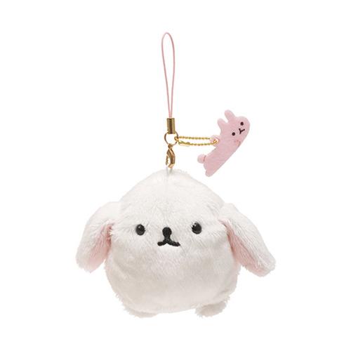San-X 麻糬兔兔子朋友系列毛絨公仔吊飾。白大福