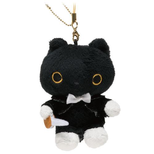 San-X 小襪貓夢幻鋼琴系列絨毛吊飾-指揮