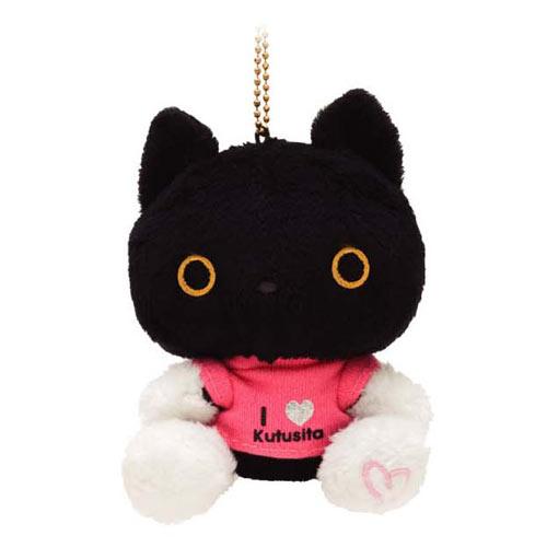San-X 小襪貓甜心系列毛絨吊飾-紅T