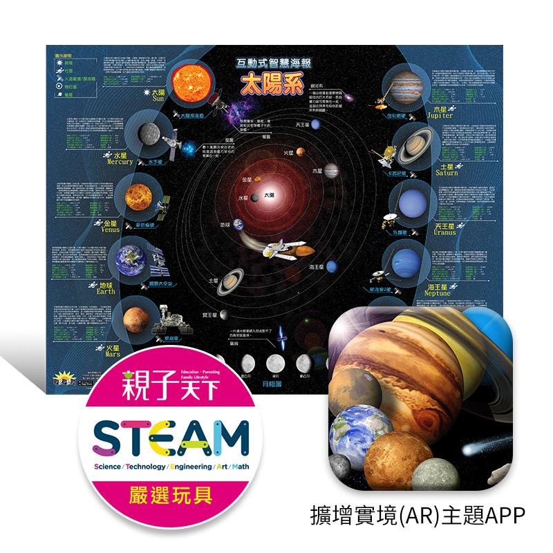 博寶樂AR 太陽系互動智慧海報 附 中英雙語APP  全彩海報80cm~60cm