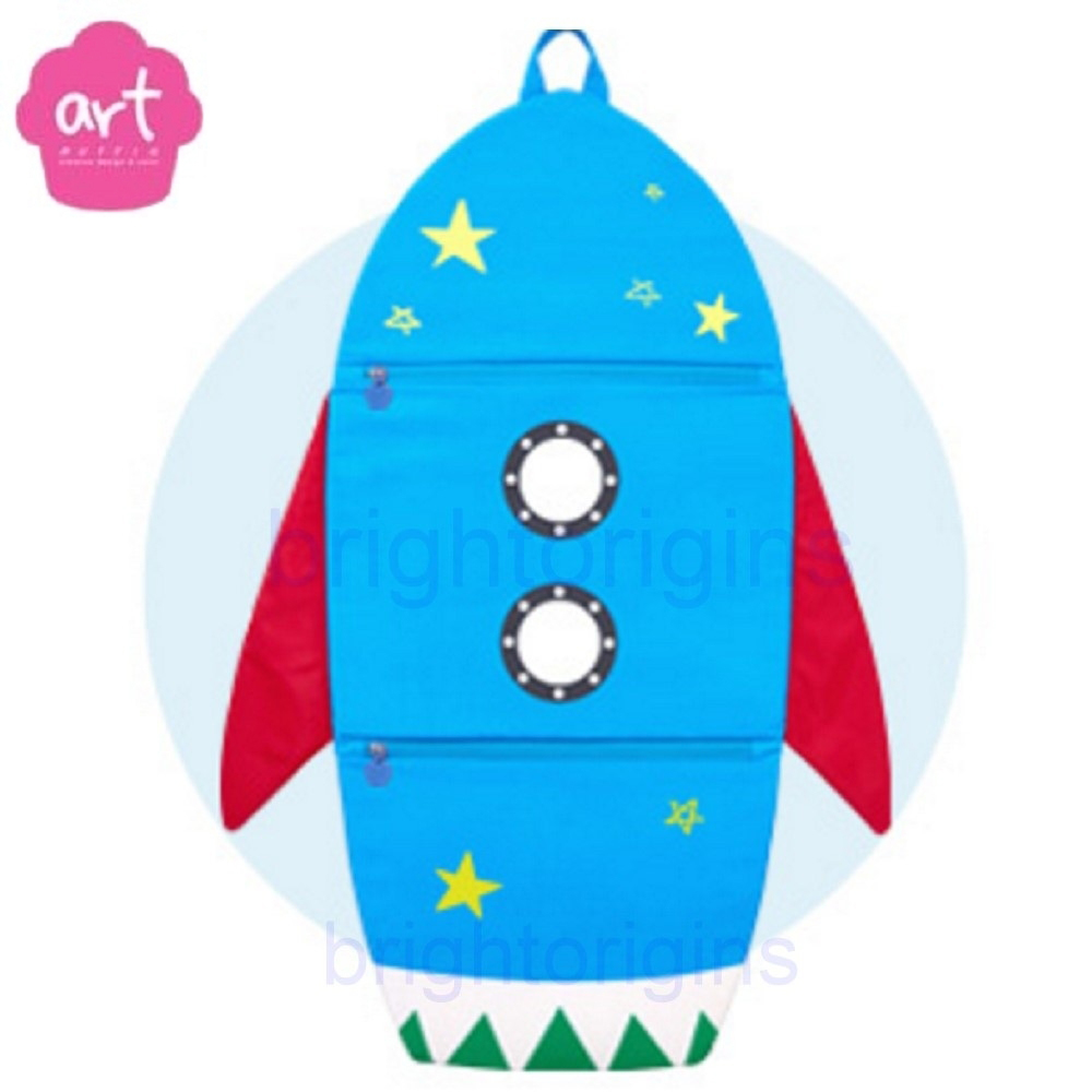 ART Muffin Kids Multi Storage 掛壁式收納袋(火箭)