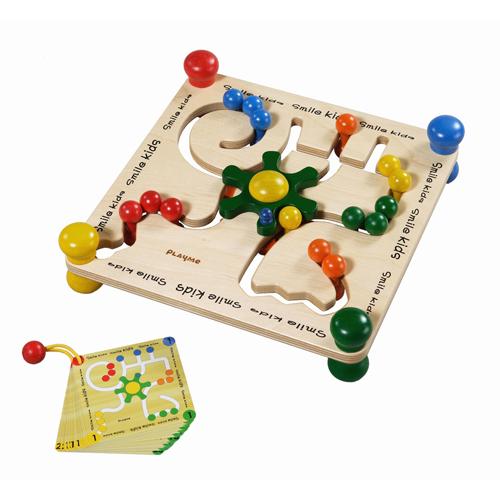 PlayMe:) 轉盤迷宮-邏輯推理木製玩具