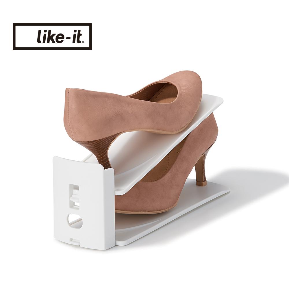 【日本like-it】可調式鞋類收納整理架(6入組)