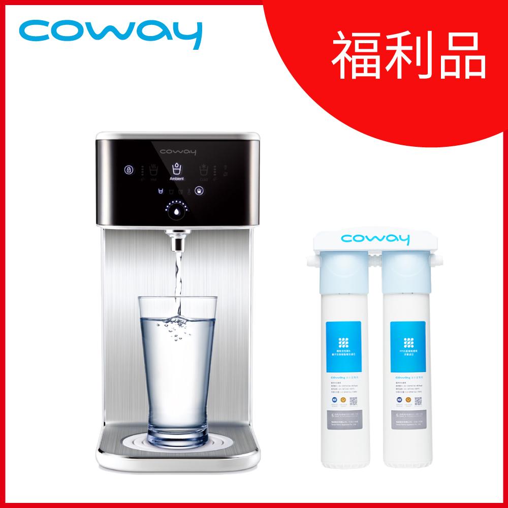 (福利品)Coway 濾淨智控飲水機 冰溫瞬熱桌上型 CHP-241N送軟水淨水器