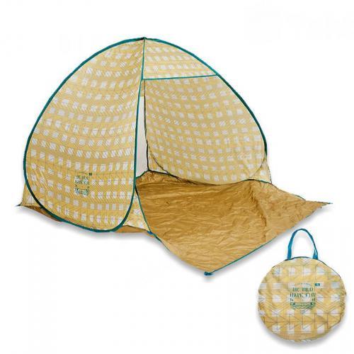 日本BISQUE 北歐風抗UV秒開帳篷(共三色)幾何黃