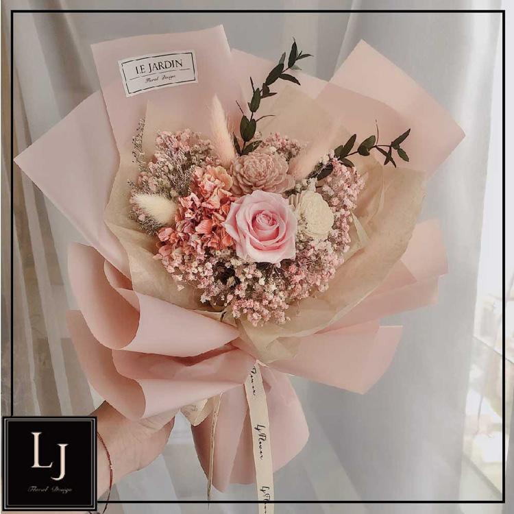 【LJ.Flower】草莓微醺永生玫瑰花束