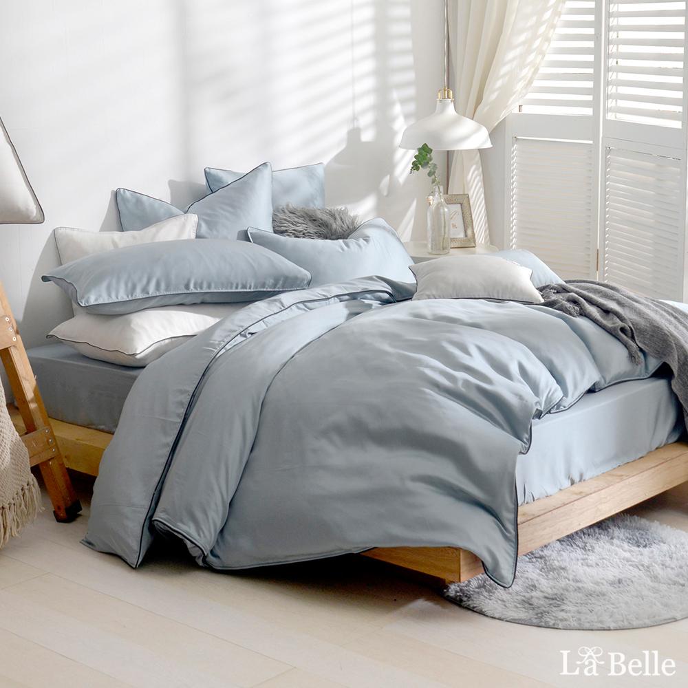 義大利La Belle《雅致典範》加大天絲滾邊刺繡兩用被床包組