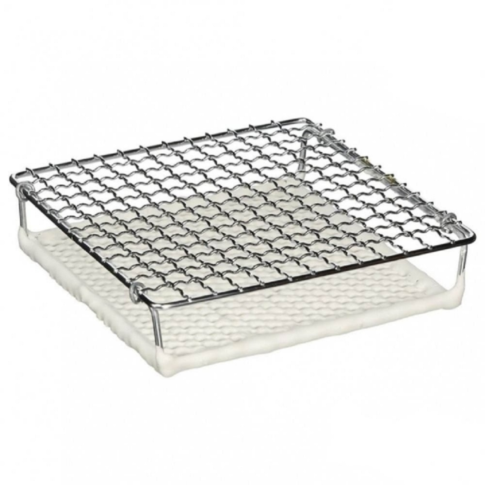 日本【丸十金網】金屬陶瓷雙層燒烤網 150mm(小)