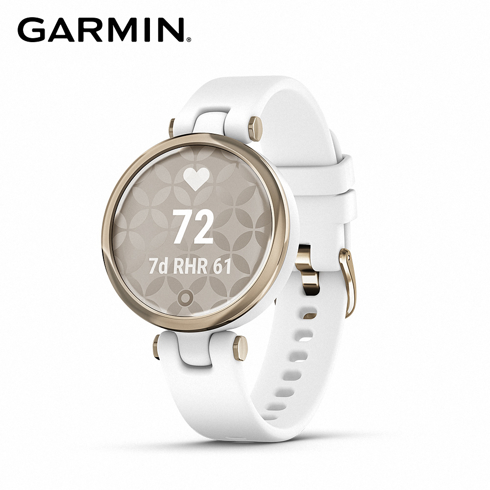 GARMIN Lily 智慧腕錶 運動款 純白奶油金