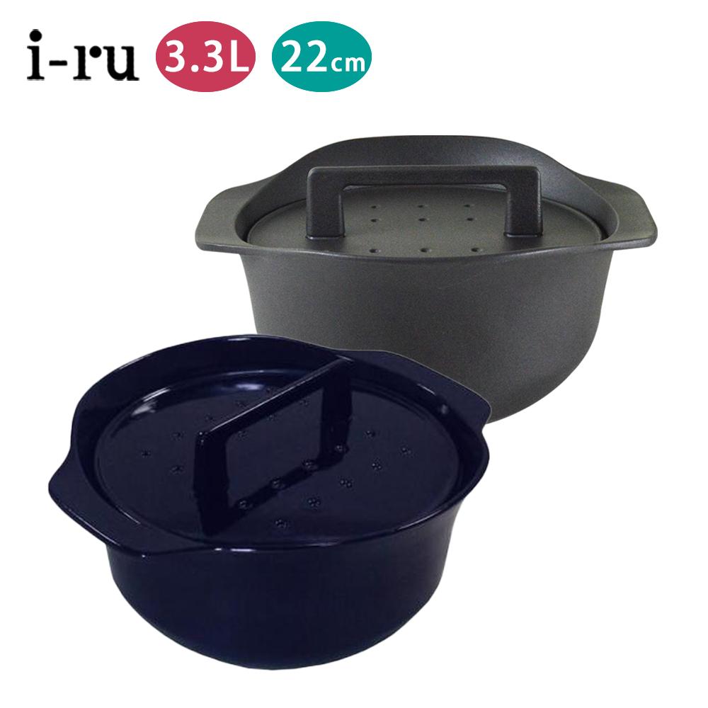 日本I-RU南部鐵器 3.3L鑄鐵鍋 黑色